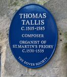 Thomas Tallis (ca. 1505 – 23 November 1585)