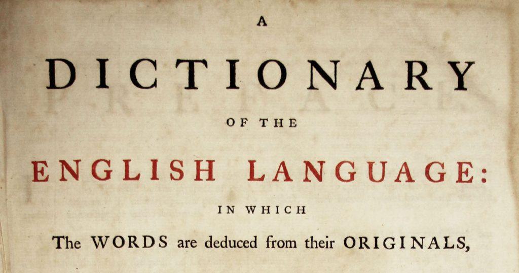 [Johnson's Dictionary]
