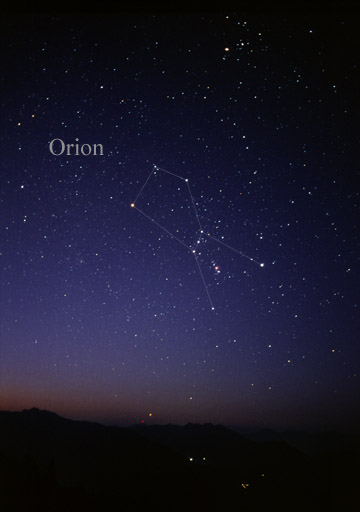 [The constellation Orion]